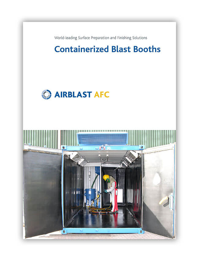 Airblast AFC containerized blast booths brochure cover