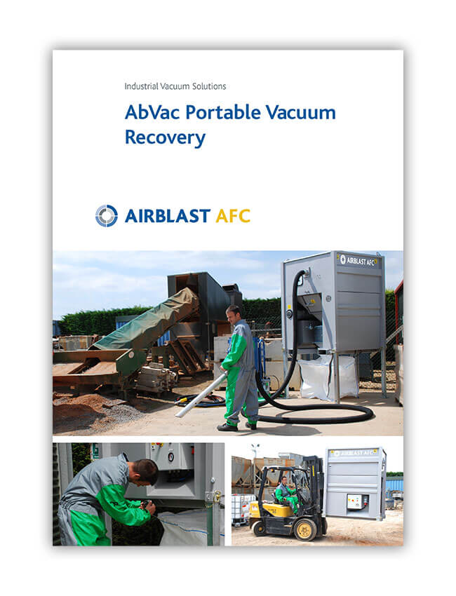 Airblast AFC AbVac Portable Vacuum Recovery Brochure front cover