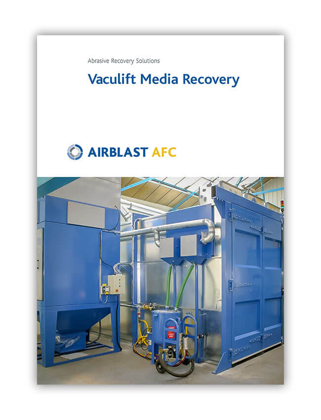Airblast AFC Vaculift Media Recovery Brochure Cover