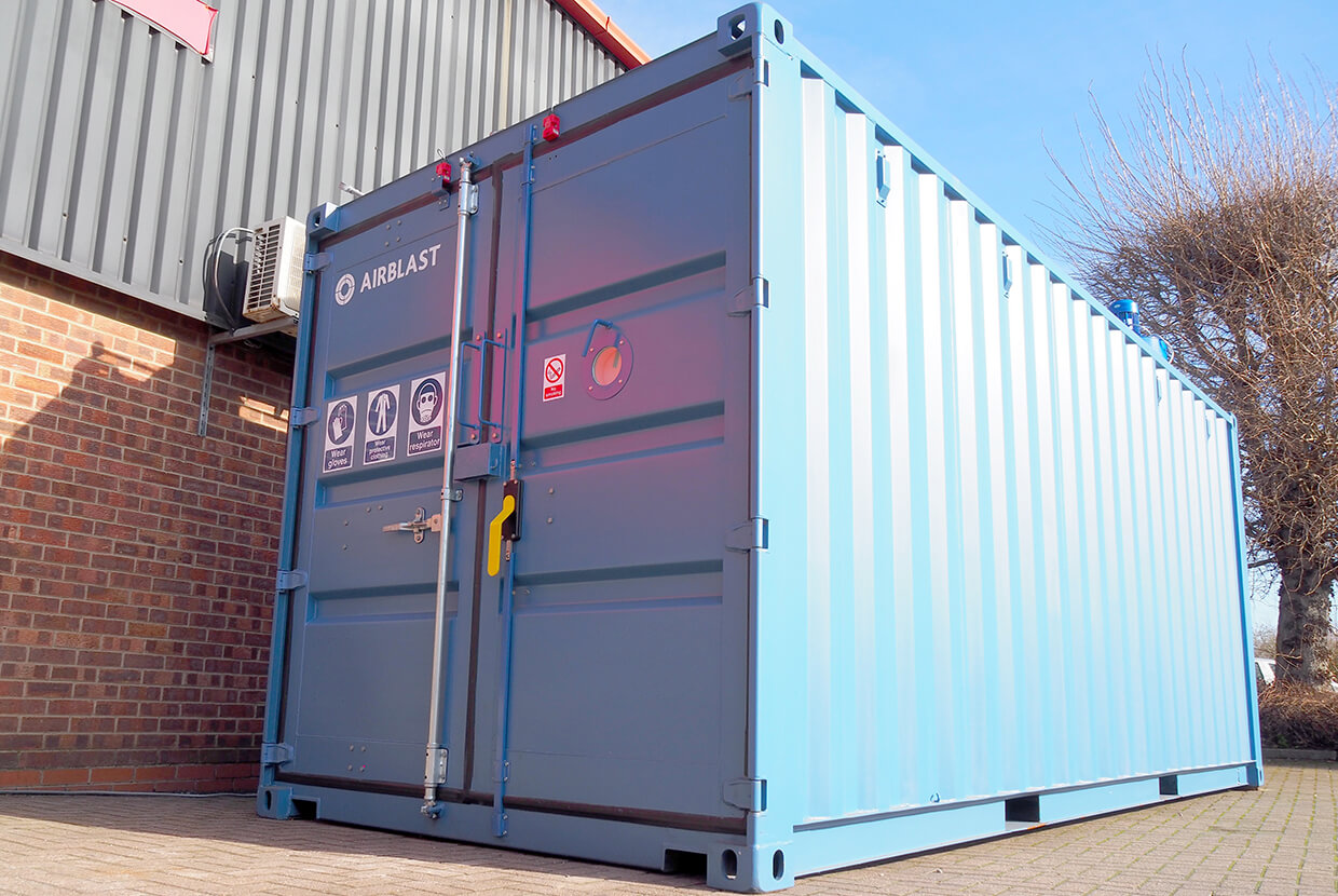 Airblast AFC Containerized Blast Booth