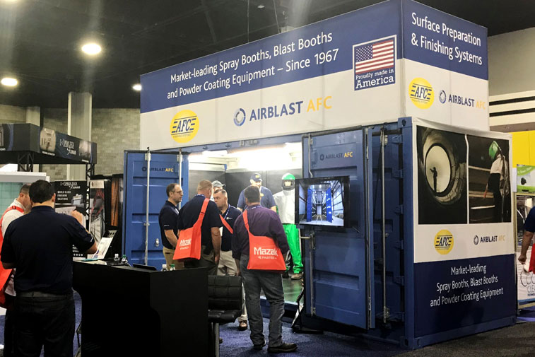 Airblast AFC stand
