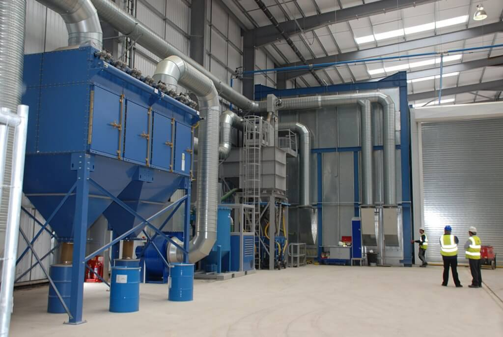 Airblast AFC Abrasive Recovery Wind Turbine Blast Booth