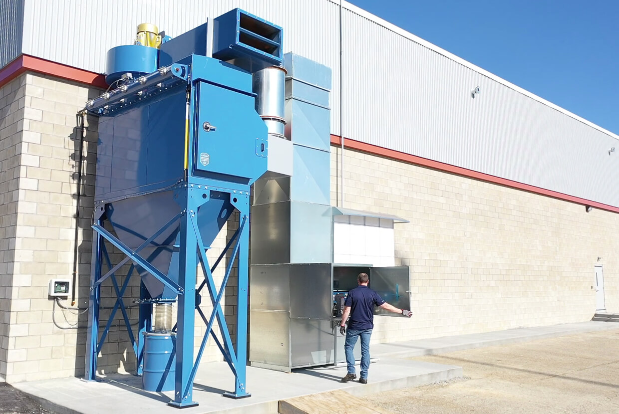 Airblast AFC blast booth dust extraction and paint booth handling unit