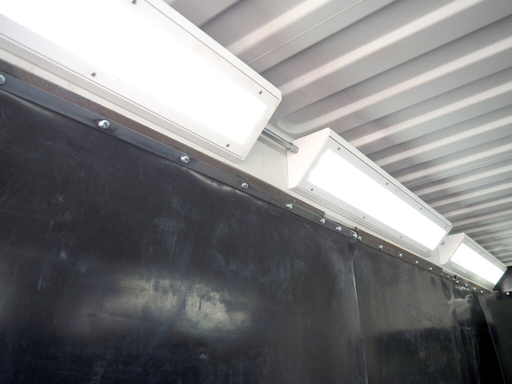 Purpose built blast-room lighting system